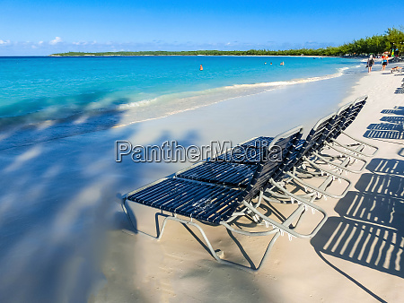 the view of empty beach on