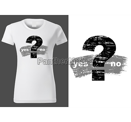 women white t shirt with question