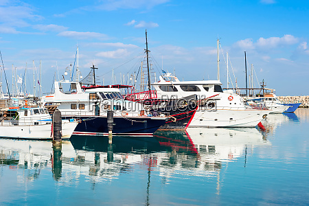 marina yachts motorboats summer cyprus
