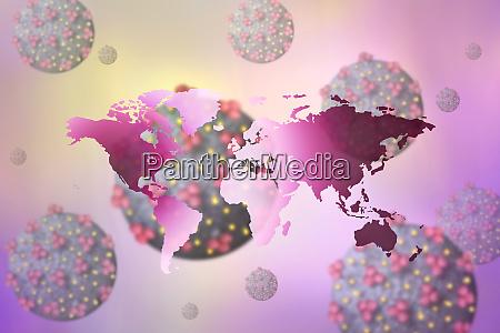 digitally generated image of world map