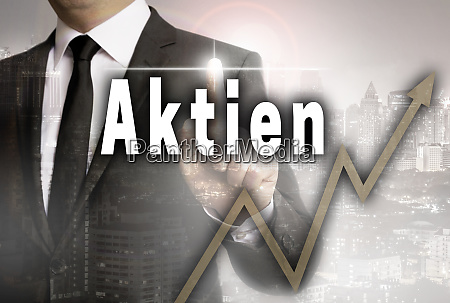 aktien in german shares is shown
