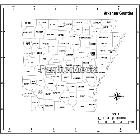 arkansas state outline administrative and political