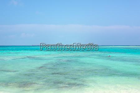 tropical island in maldives indian ocean