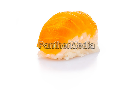 nigiri sushi with raw salmon fish
