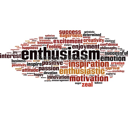 enthusiasm word cloud