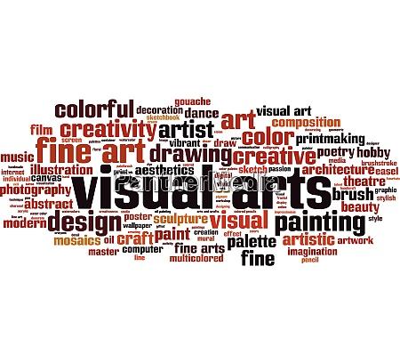 visual arts word cloud