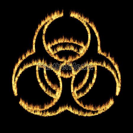 warning symbol of a biohazard sign