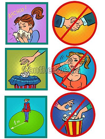 virus epidemic hygiene and health instruction