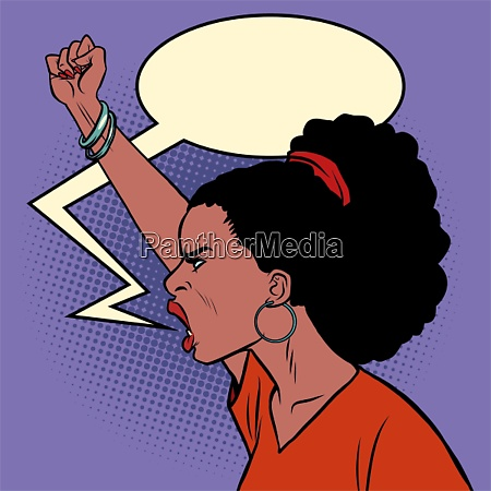 african woman protest