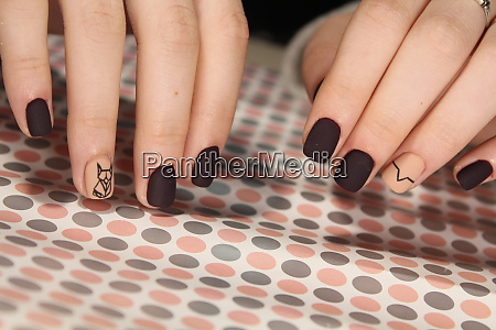 nails with abstraction