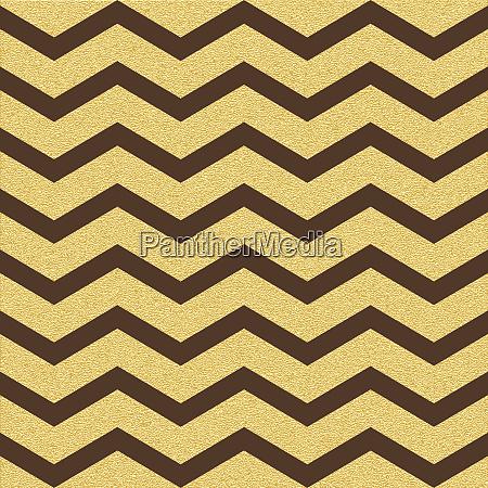 gold glittering chevron wave seamless pattern