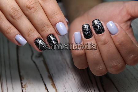 bright neon manicure on female hands