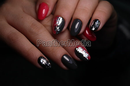 manicure with long nails on a