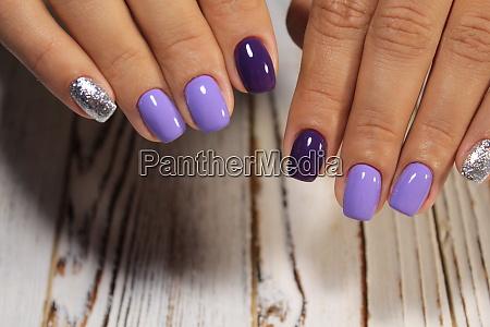 manicured nails nail polish art design
