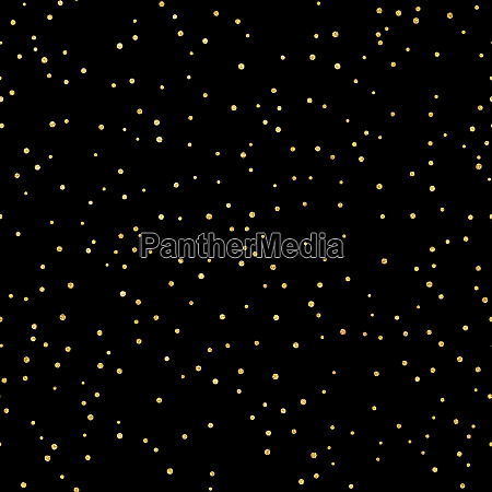 glitter gold seamless pattern with polka