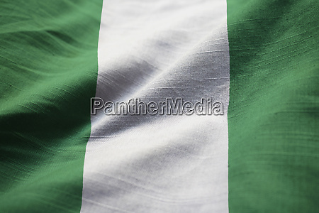 closeup of ruffled nigeria flag nigeria