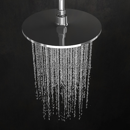 detail of a shower head with