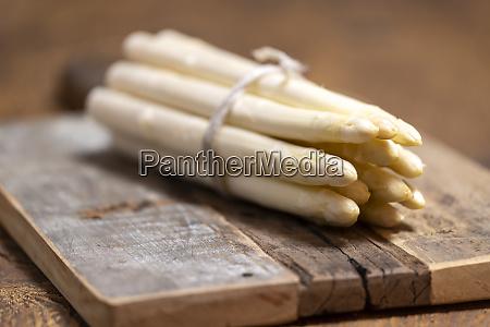 closeup of white asparagus