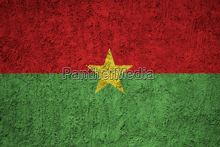 burkina faso flag painted on the