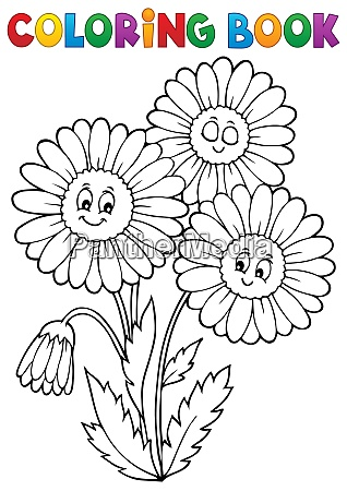 coloring book daisy flower image 1