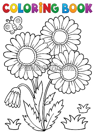 coloring book daisy flower image 2