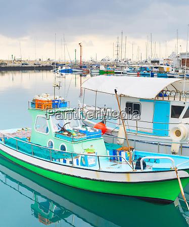 fishing boats limassol marina cyprus