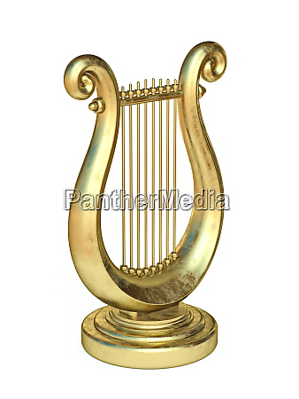 golden lyre 3d