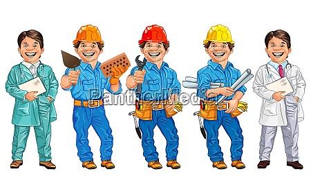vector set of workers