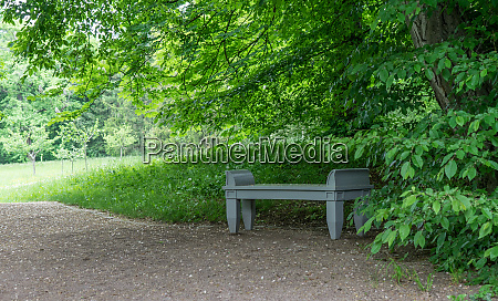 wooden bench in goethes garden house