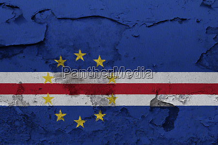 cape verde flag painted on the