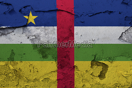central african republic flag painted on