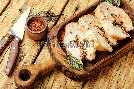 appetizing baked meat
