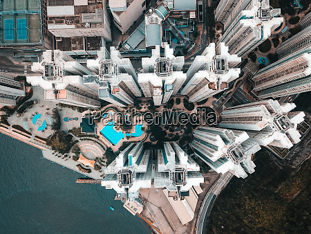 aerial view of apartments in hong