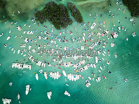 birds eye view of cayo caracoles