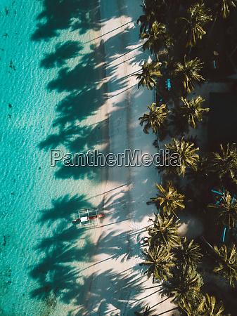 aerial view of white beach palawan