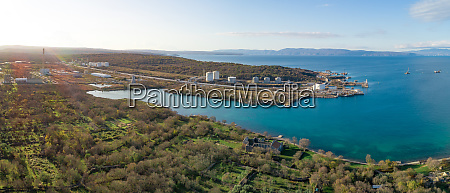 panoramic aerial view of the bay