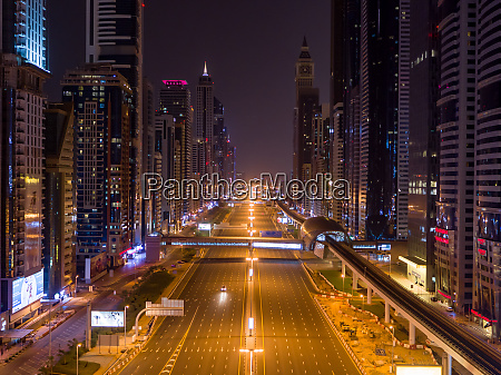 aerial view of empty streets at