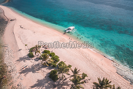 aerial view of hagonoy island beach