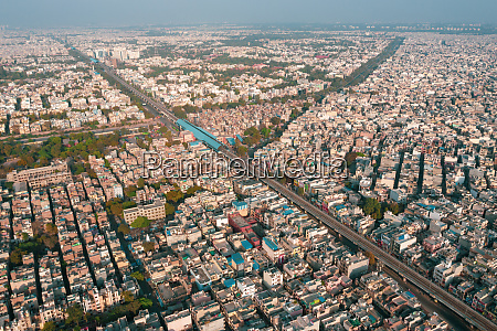 aerial view of buildings and streets