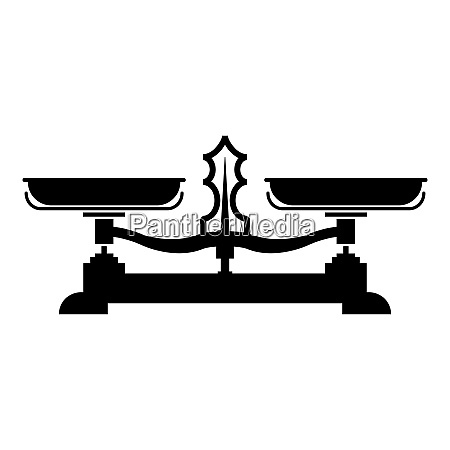 balancing scales store weigher libra icon