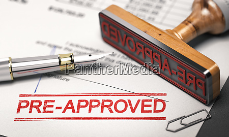lending concept pre approved mortgage loan
