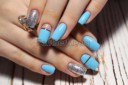 beautiful blue manicure