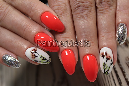 stylish red manicure