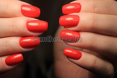 glamorous red manicure
