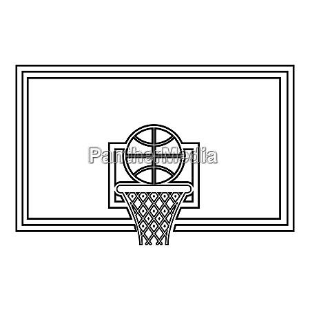 basketball hoop and ball backboard and