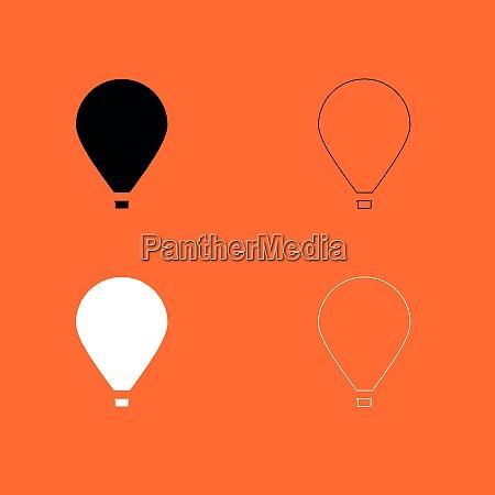 hot air balloon black and