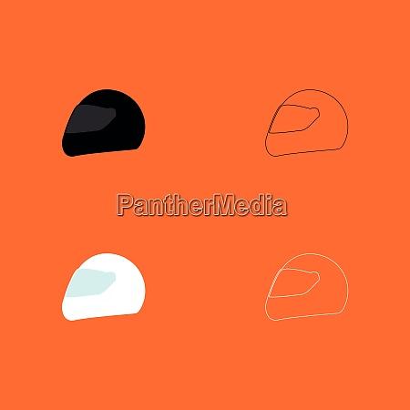 racing helmet black and white