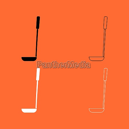 soup ladle black and white