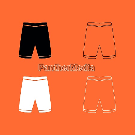 shorts black and white set icon