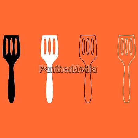 kitchen spatula black and white set